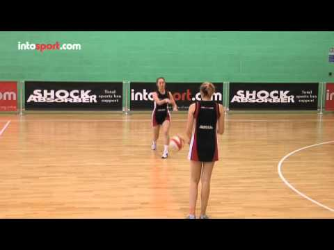 Netball Passing Skills: Two Handed Bounce Pass - YouTube