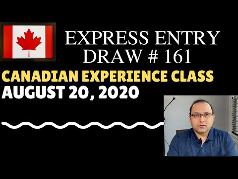 Express Entry 161 CEC Draw August 20 2020