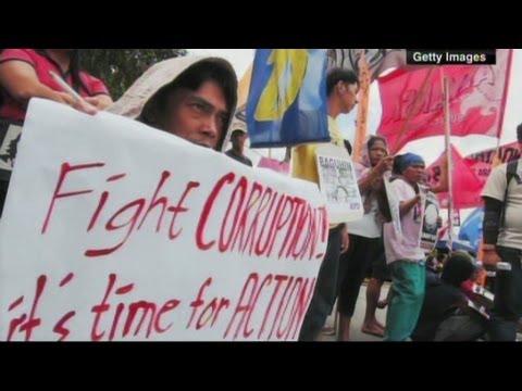 Philippines president Benigno Aquino on fighting corruption.
