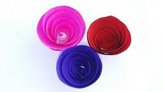 Paper Flower Decoration    Christmas & Diwali Decoration Ideas    Paper Rolling Rose    DIY