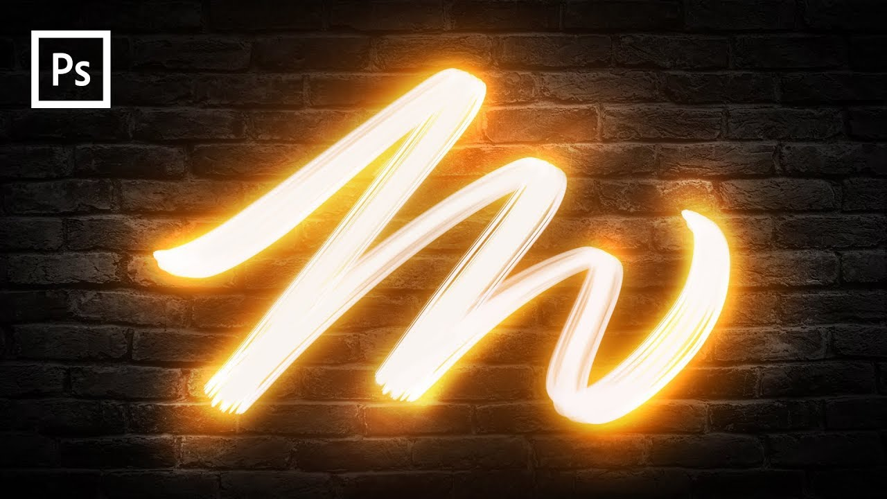 Photoshop Tutorials Light Painting Text Effect Youtube