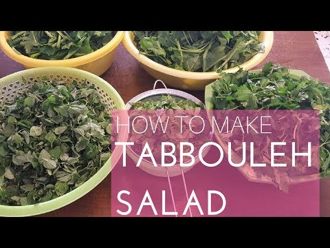 How to make Tabbouleh in few minutes!  Arabic Recipe #14