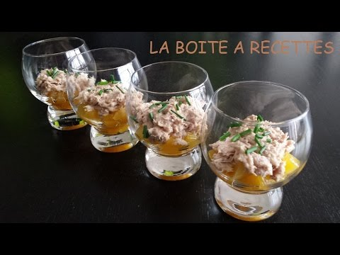 verrine de p che au thon aperitif dinatoire la boite a recettes youtube. Black Bedroom Furniture Sets. Home Design Ideas