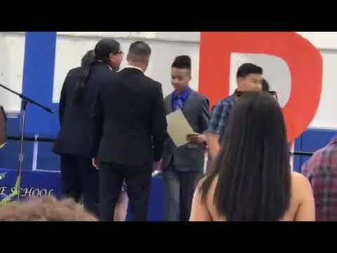 Christian had graduation at Carter High School for kolb middle school part 3