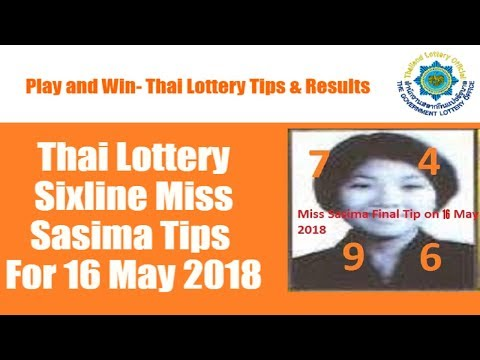 Thai Lottery Sixline Miss Sasima Tips For 16 May 2018, thai lotto Sixline Miss Sasima Tips