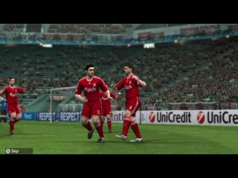 Pro Evolution Soccer 2010 Wii UEFA Champions League Gameplay - Knock Out Stage Match2 Home (1st Leg)