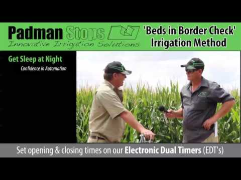 'Pipe Thru-the-Bank' or 'Beds in Border Check' Irrigation method explained