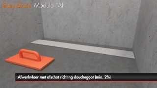Douchegoot plaatsen – Easy Drain Compact/Modulo TAF met primaire afwatering (Nederlands)