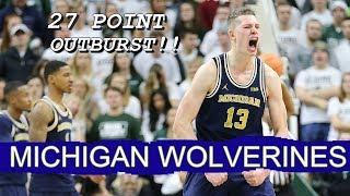 Moe Wagner Career High 27 Points!! At Rival Michigan State!!