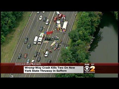 Wrong-Way Crash Kills 2 On New York State Thruway In Suffern