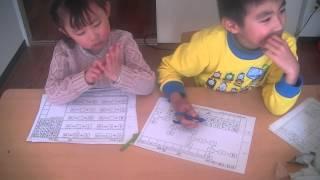 優秀な兄妹です。妹は足し算と引き算も出来ます。 http://school.xaw.jp/