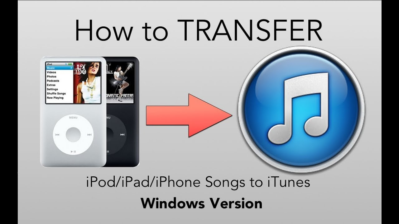 how to transfer music from iphone to itunes how to transfer from ipod to itunes windows 21088