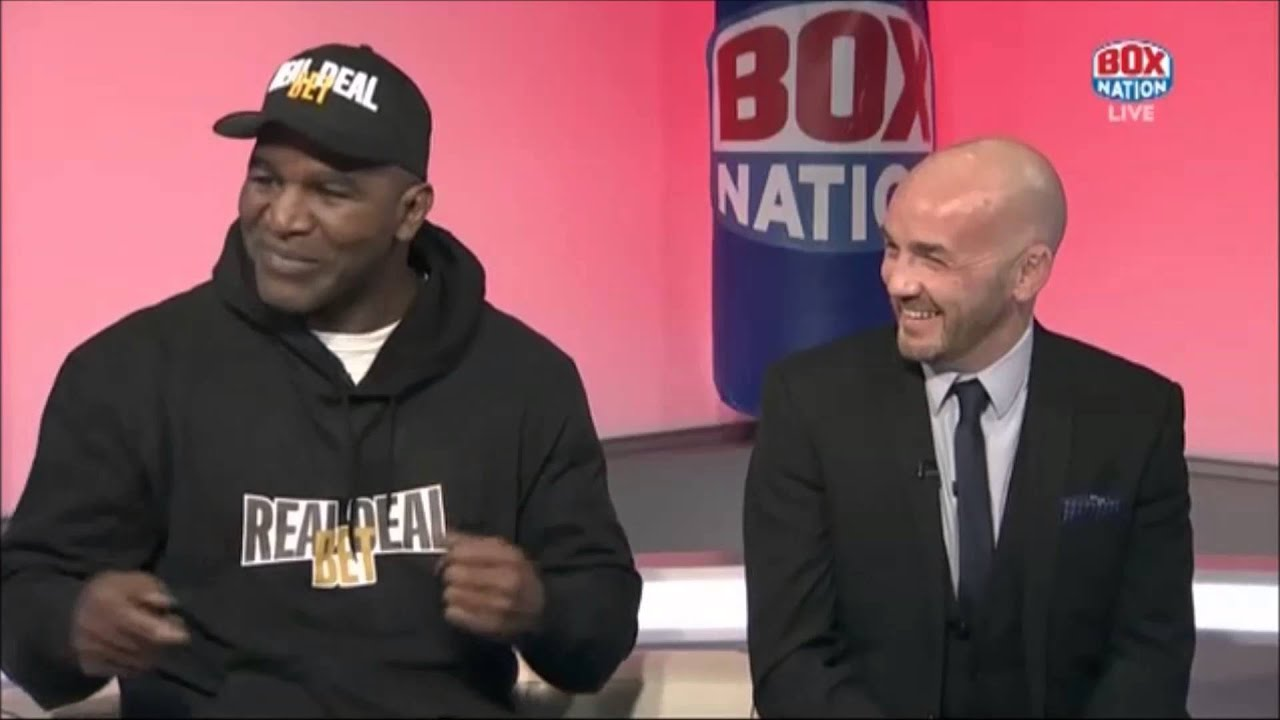 Evander Holyfield relives Mike Tyson sparring when both were youngsters