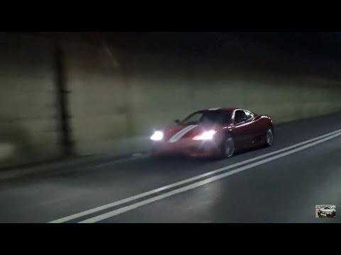 Ferrari 360 Challenge Stradale Brutal Tunnel Sounds