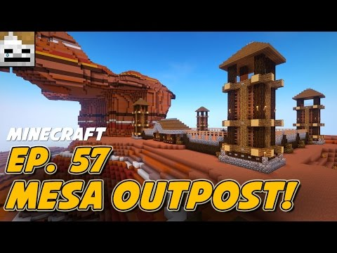 Let's Play Minecraft 1.11 Episode 57: Mesa Outpost!