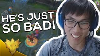 """Doublelift - """"HE'S ON ANOTHER LEVEL OF BAD!"""" ft. Biofrost - League of Legends Funny Stream Moments"""