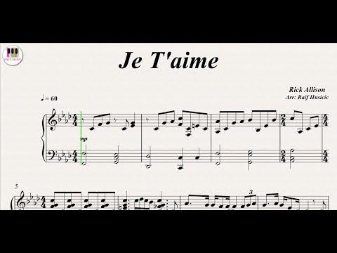 Je T'aime - Lara Fabian, Piano
