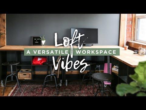 Organized Rolling Workspace | LOFT VIBES