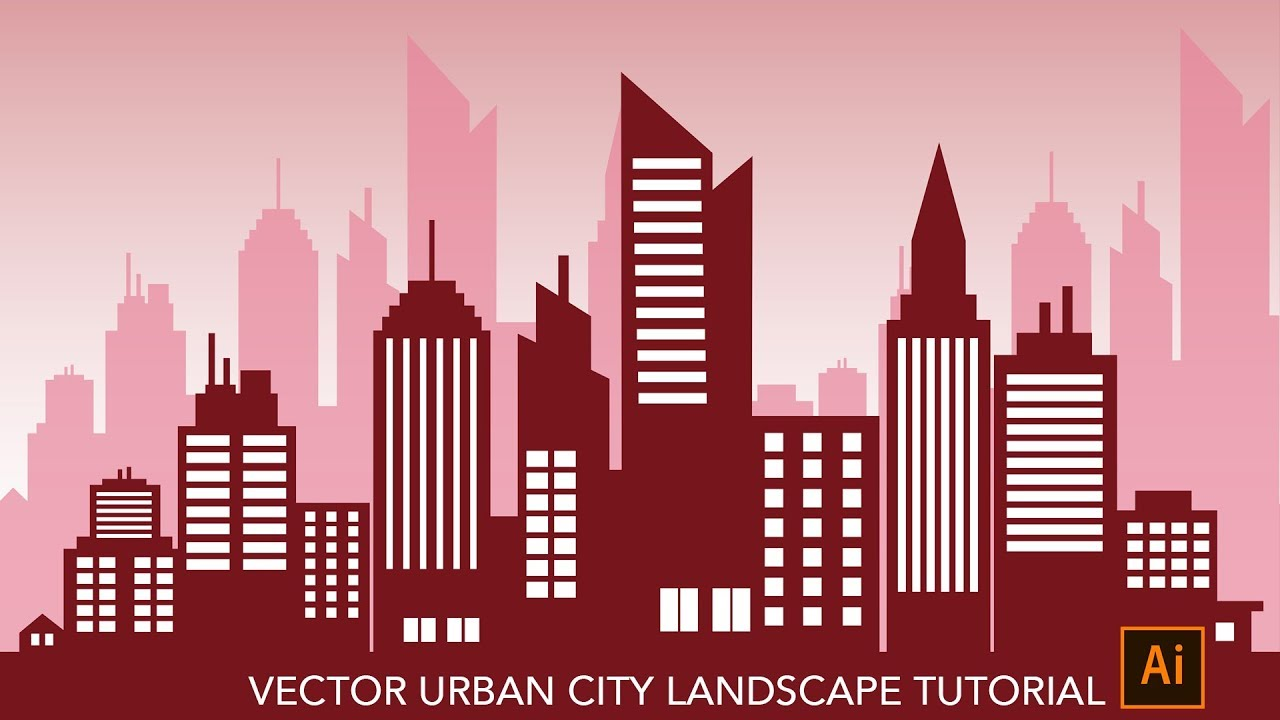 How To Make Vector City Landscape Skylines Silhouette