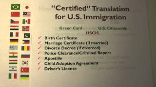 Green Card & U S  Citizenship - Getting Your Certified Translation for U S   Immigration