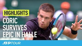 Coric, Khachanov Win Epic Matches In Halle | HIGHLIGHTS | ATP