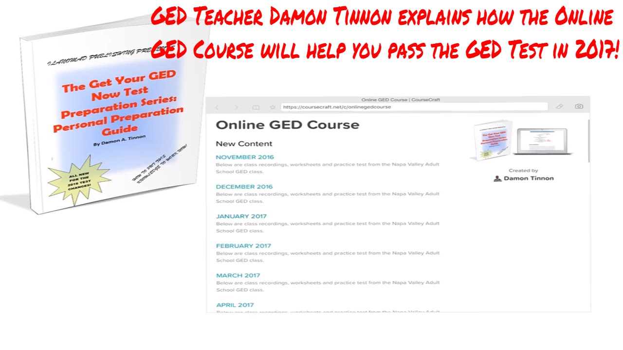 Online GED Course 2017 YouTube – Ged Prep Worksheets