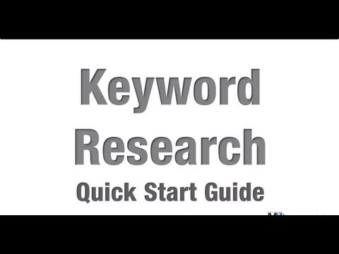How to Do Keyword Research - Quick Start Guide