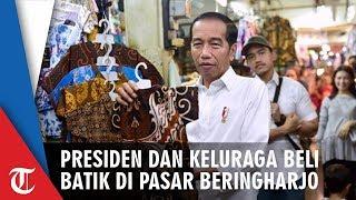 Momen Jan Ethes Diajak Jokowi Belanja Batik di Pasar Beringharjo