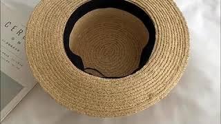 kirahosi 여자 여름 신상 라탄 모자 + 덧신 증…