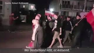 """Nazi-Slogan: """"Wer Deutschland liebt, ist Antisemit!"""" - NS-Aufmarsch am 21.9.2018 in Dortmund"""