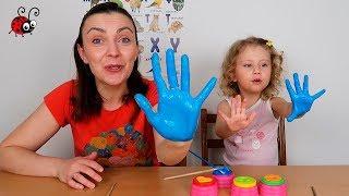 Învățăm Culorile cu Vopselele pentru Degețele   Video Educativ pentru cei MICI