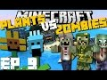 Minecraft: PLANTS VS ZOMBIES MOD (Olann City Special Edition) MOD SURVIVAL GAME EP 9