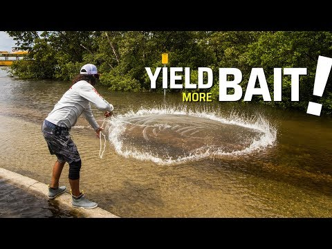 How To CLOSE A Cast Net {Live Bait Can't Escape!}