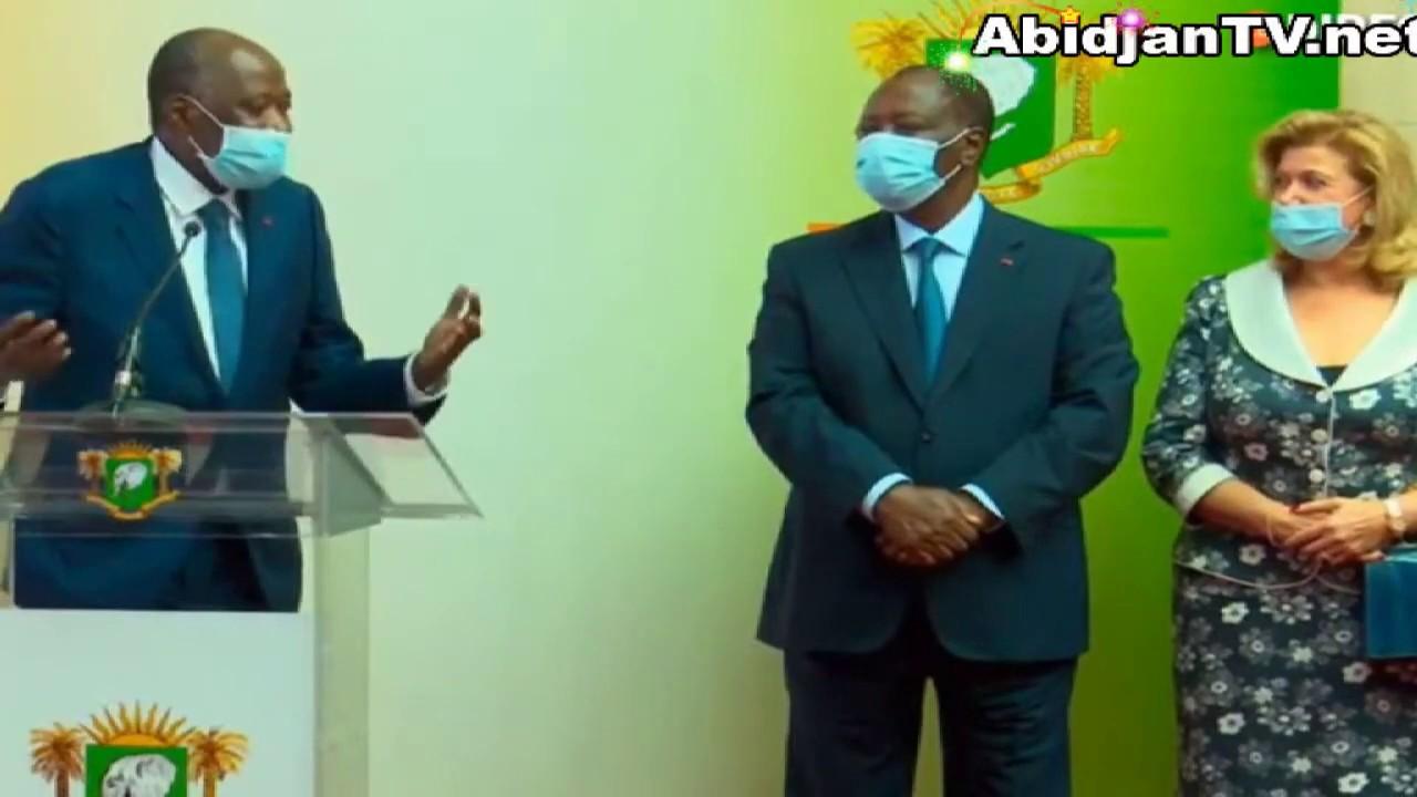 Retour  du premier ministre Gbon Coulibaly en Côte d'Ivoire après des soins medicaux en France