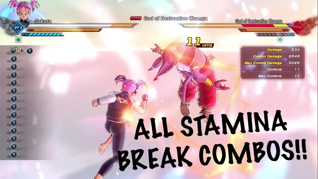 Female Saiyan Stamina Break Combos tutorial!! Dragon Ball Xenoverse 2!!