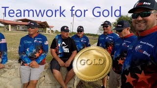 USA Fishing Team Practicing for Gold Medal against 13 Countries