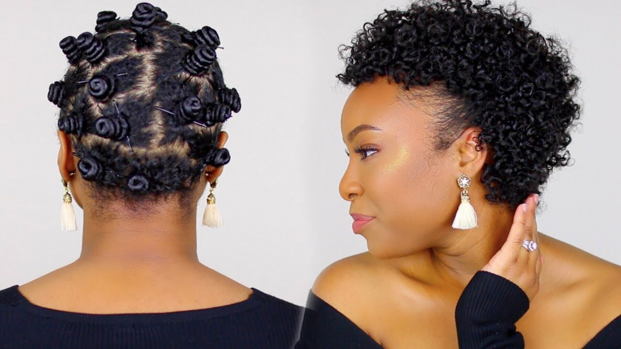 bantu knots tutorial on short natural hair | perfect for heat damaged/transitioning hair