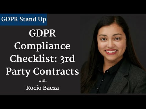 005 - GDPR Compliance Checklist: 3rd Party Contracts