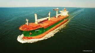 DJI Phantom 3 - Cargo ship Arborella at Sea - Aerial Footage (4K)