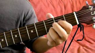 g dsus4 em7 cadd9 guitar chord progression demonstration