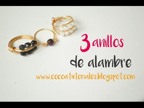 9414eabf6907 Cómo hacer tres anillos con alambre II  How to make three rings with wire   46