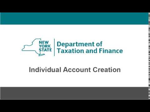 Online Services Individual Account Creation Demonstration