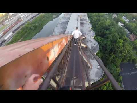 Abandoned grain elevator Cincinnati Ohio