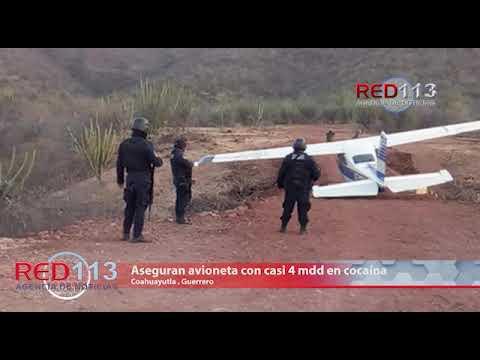 VIDEO Aseguran avioneta con casi 4 mdd en cocaína
