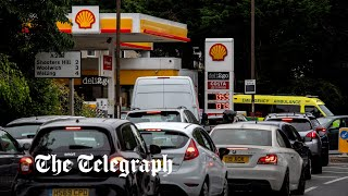 video: Stop panic buying fuel, AA chief tells motorists amid chaotic scenes at petrol stations
