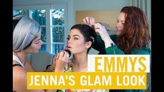 how to red carpet glam makeup emmy edition jenna dewan
