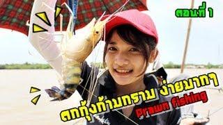ตกกุ้งก้ามกราม ง่ายมากๆ (Easy prawn fishing) ตอนที่1# by MAYME fishingEZ