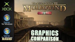 Elder Scrolls III Morrowind | Graphics Comparison | ( Xbox , PC , PC MODDED )