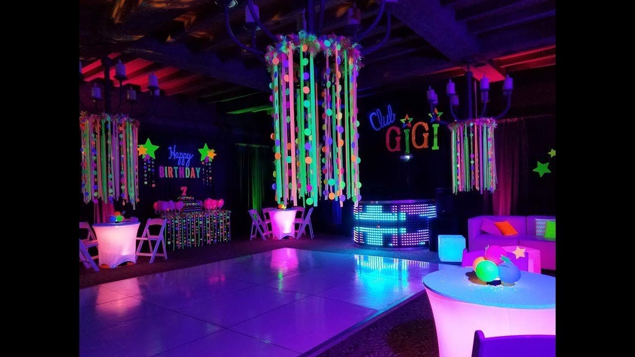 Neon Black Light Glow UV Birthday Party at Sassi ...