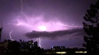 Lightning in Brisbane, Australia